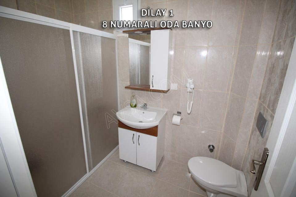 Avşa Adası Dilay Apart 8 Numaralı Oda 3 Tek Yataklı Oda Banyo