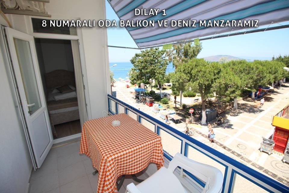 Avşa Adası Dilay Apart 8 Numaralı Oda 3 Tek Yataklı Balkon Manzarası